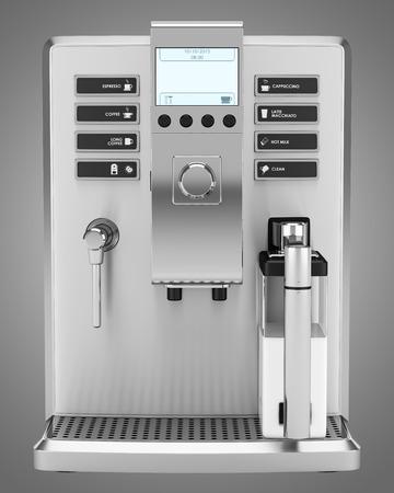 회색 배경에 고립 된 현대 커피 기계 스톡 콘텐츠