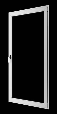 black metallic background: gray metallic window isolated on black background Stock Photo