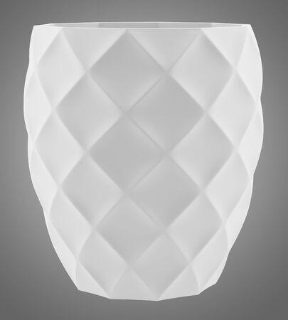 isolated on gray: ceramic vase isolated on gray background