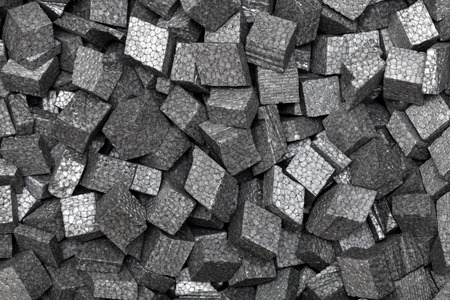 black styrofoam pellets