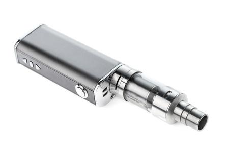 흰색 배경에 고립 된 전자 담배