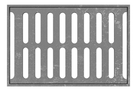 sewage: sewage grid isolated on white background. 3d illustration