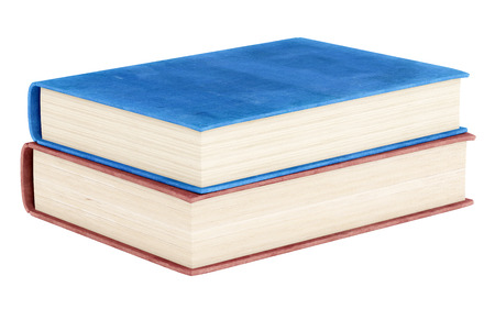 old page: two books isolated on white background. 3d illustration