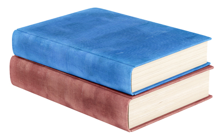 books isolated: two books isolated on white background. 3d illustration