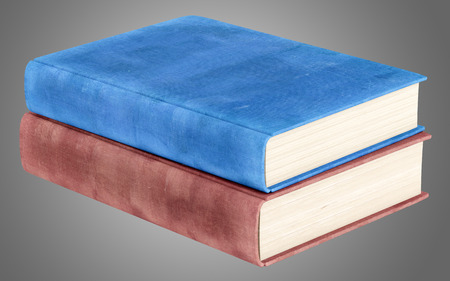 books isolated: two books isolated on gray background. 3d illustration