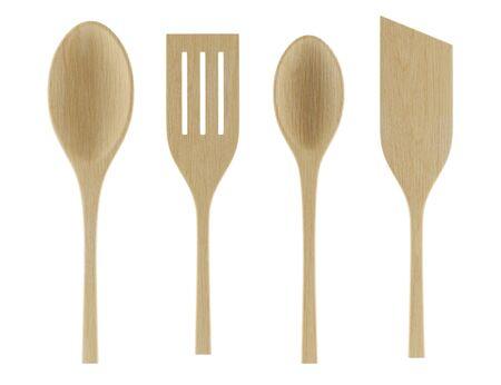utensili da cucina isolato su sfondo bianco. illustrazione 3d