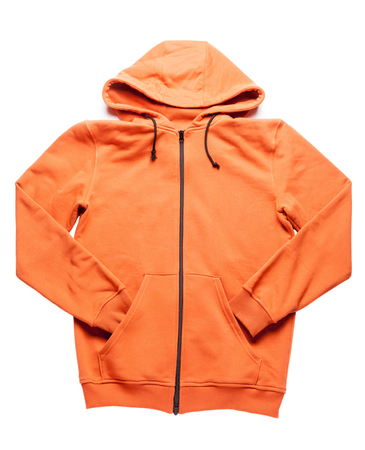orange hoodie isolated on white backgroud Stock Photo - 70174676