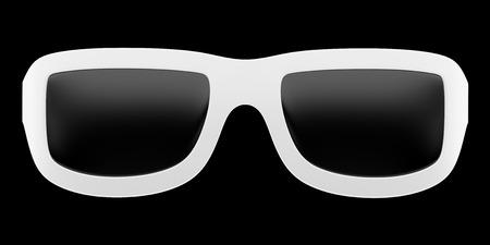 protective eyewear: sunglasses isolated on black background. 3d illustration