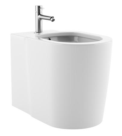 ceramic bidet isolated on white background. 3d illustration Stock Illustration - 102322591