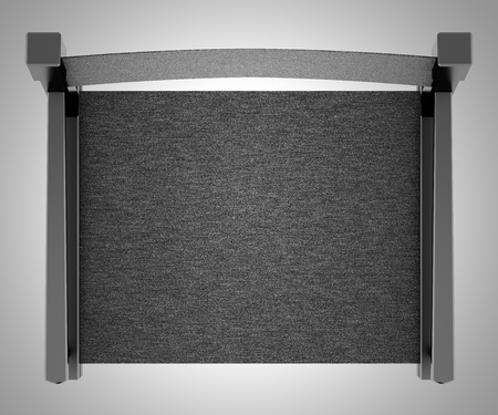 black director`s chair isolated on gray background. top view. 3d illustration Banque d'images - 117160030