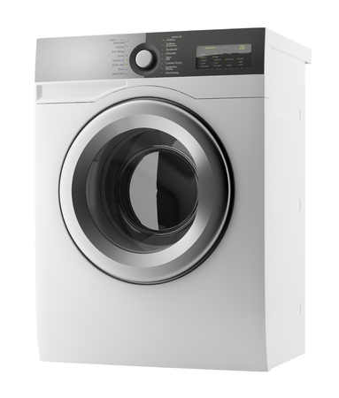 Modern washing machine isolated on white Banque d'images - 118829189