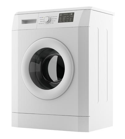 Modern washing machine isolated on white Banco de Imagens