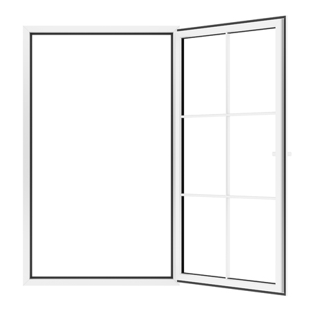 open window isolated on white background. 3d illustration Banque d'images - 119778287
