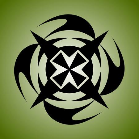 Round tribal ornament