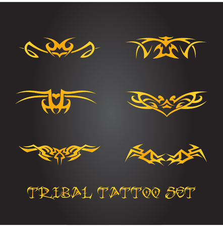 gothic style: Tribal tattoo ornament set
