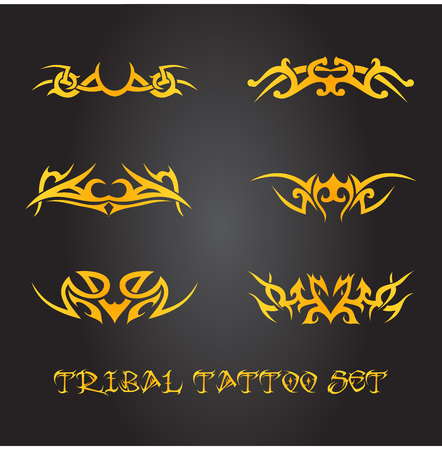 celtic: Tribal tattoo ornament set