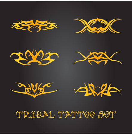 gothic style: Tribal tattoo ornaments