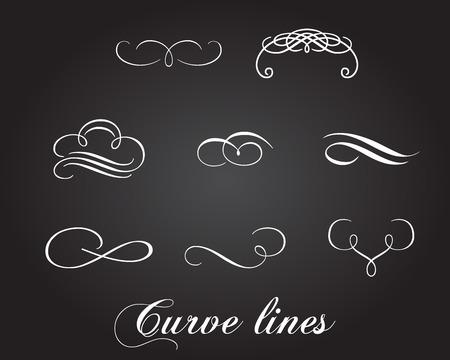 underline: Typographic elements and curve lines