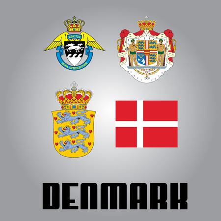 all european flags: National goverment elements of Denmark
