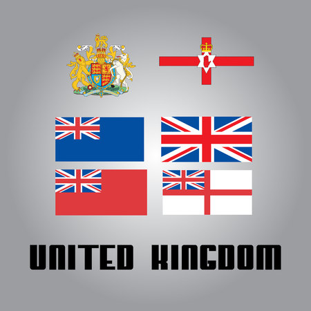 all european flags: National goverment elements of United Kingdom