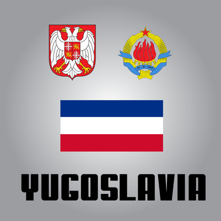 all european flags: National goverment elements of Yugoslavia