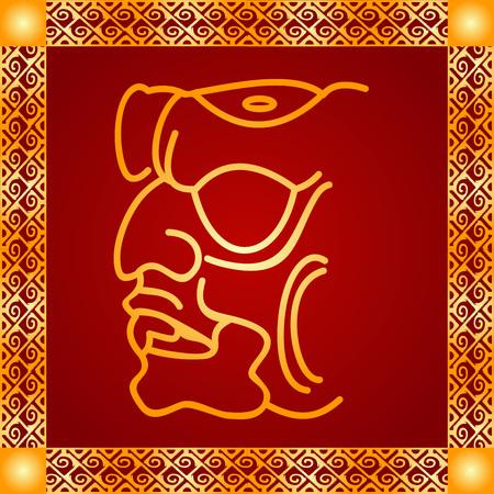 American indians, Maya and Aztec symbolic ornaments Illustration