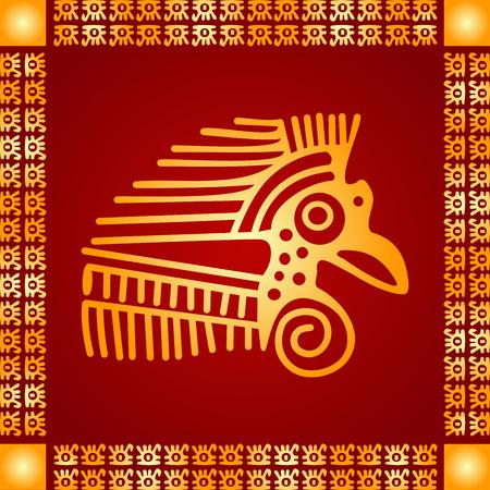 American indians, Maya and Aztec symbolic ornaments