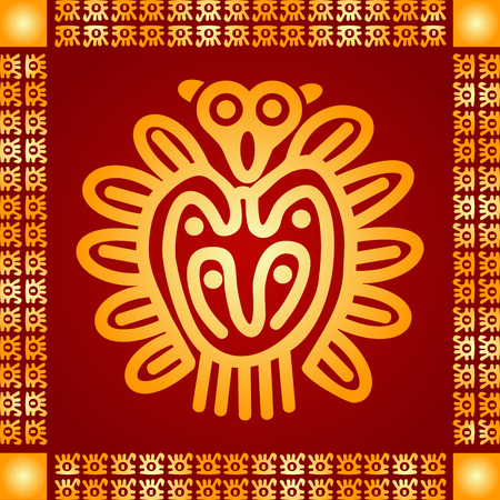 American indians, Maya and Aztec symbolic ornament
