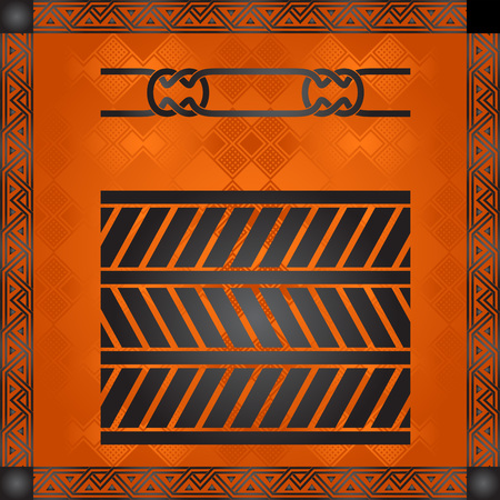 Africano ornamento illustrazione artistica Archivio Fotografico - 82414375