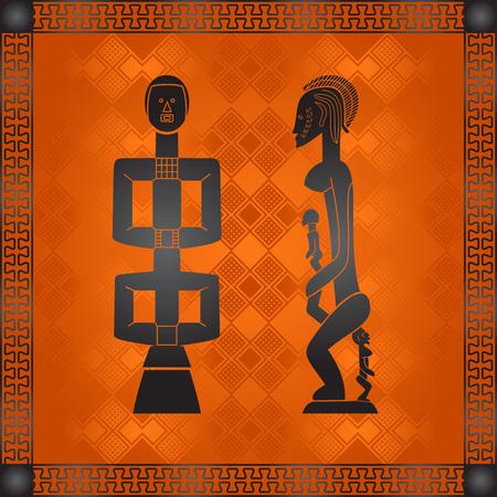 Ornamento isometrico africano Archivio Fotografico - 82414439