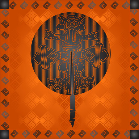African tribes cultural symbolic ornaments Illustration