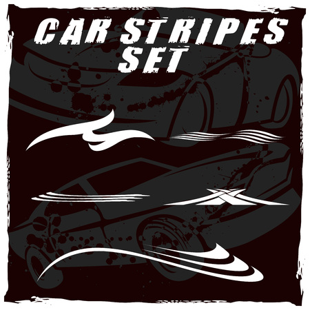 Tribal and cool Car stripe set top print on vinyl and adhesive on vehicle Çizim