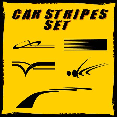 pinstripe: Tribal and cool Car stripe set top print on vinyl and adhesive on vehicle Illustration