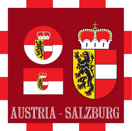 National ensigns of Salzburg - Austria