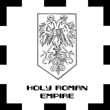 all european flags: Official government ensigns of Foly Roman Empire