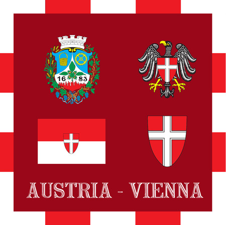 National ensigns of Vienna - Austria Иллюстрация