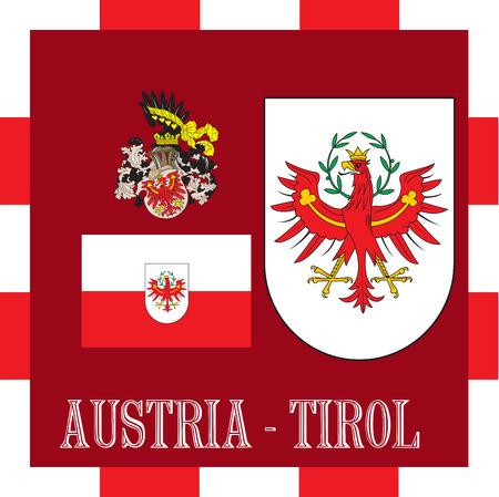 National ensigns of Tirol - Austria