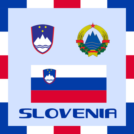 Official government ensigns of Slovenia Vector Illustration