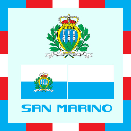 Official government ensigns of San Marino
