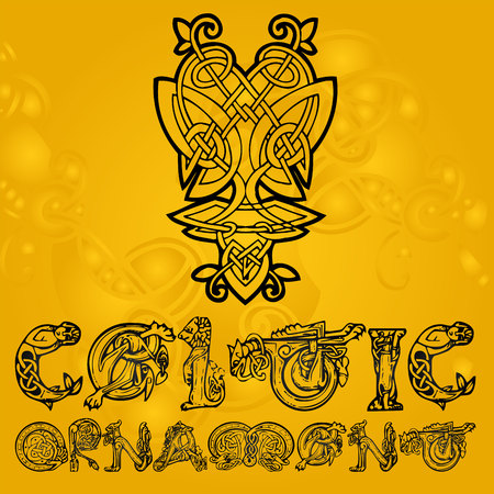 knotwork: Celtic decorative  ornament