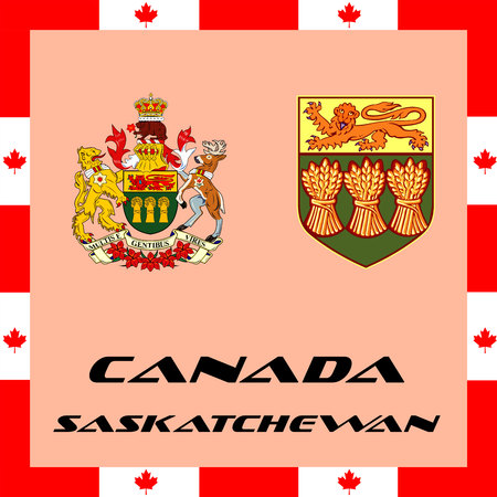 Official government elements of Canada - Saskatchewan Çizim