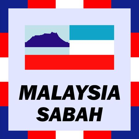 Official ensigns, flag and coat of arm of Malaysia - Sabah