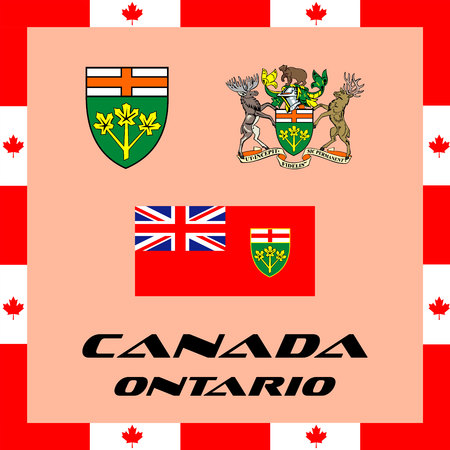 Official government elements of Canada - Ontario Ilustração