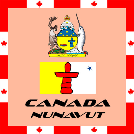 Official government elements of Canada - Canada Nunavut Illustration