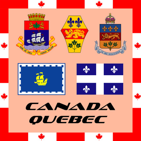 Official government elements of Canada - Quebec Ilustração