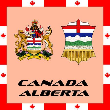 캐나다의 공식 정부 요소 - 앨버타 일러스트