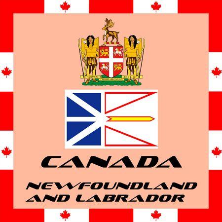Eléments gouvernementaux officiels du Canada - Terre-Neuve-et-Labrador Banque d'images - 82944343