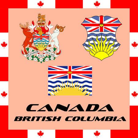 캐나다의 공식 정부 요소 - 브리티시 컬럼비아 일러스트