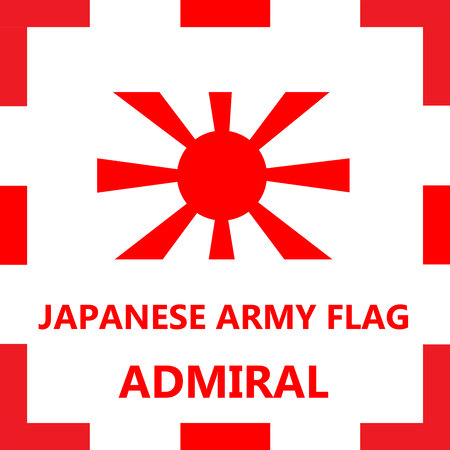 admiral: Japanese army flag - Admiral