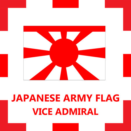 admiral: A Japanese army flag - Vice admiral